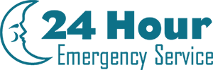 24 Hour Emergency Service teal
