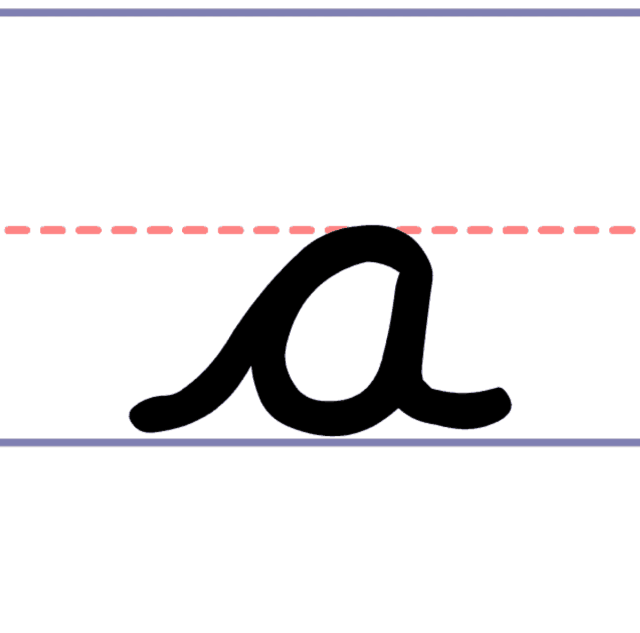 How to Write a Cursive Lowercase a