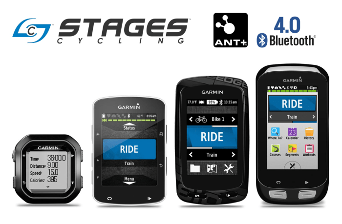 Stages Compatible with Garmin Edge