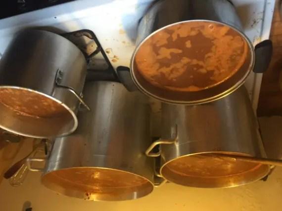 Lentil soup for 300!