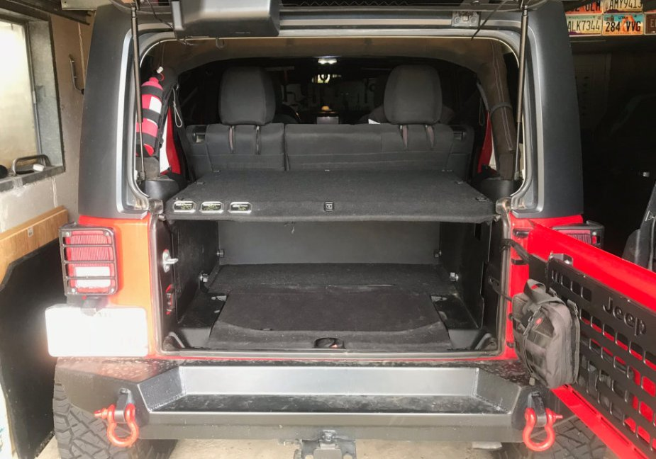JK Wrangler with a Security Deck Enclosure