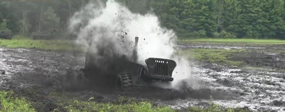 Little Blue Jeep Muddy