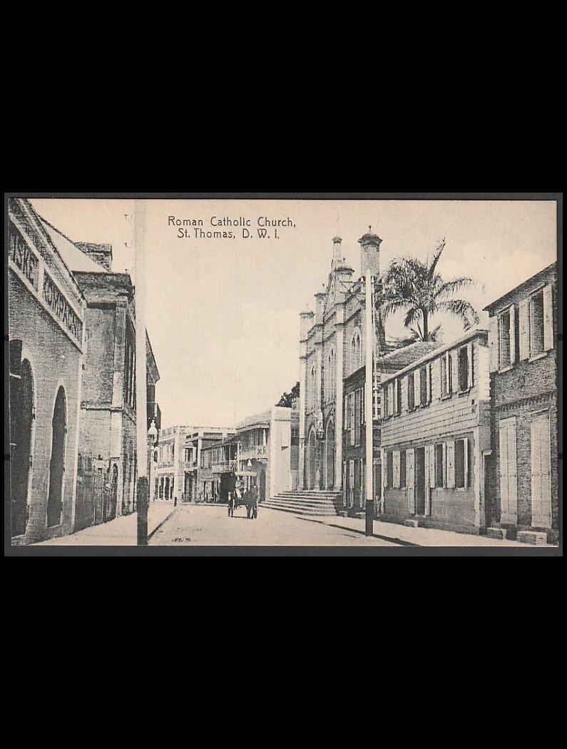 DVI postkort St. Thomas ubrugt