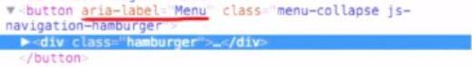 Code-Snippet mit ARIA-Attribut