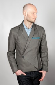 Asymmetrical linen jacket, 2012