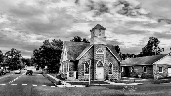 Country Church in a small town