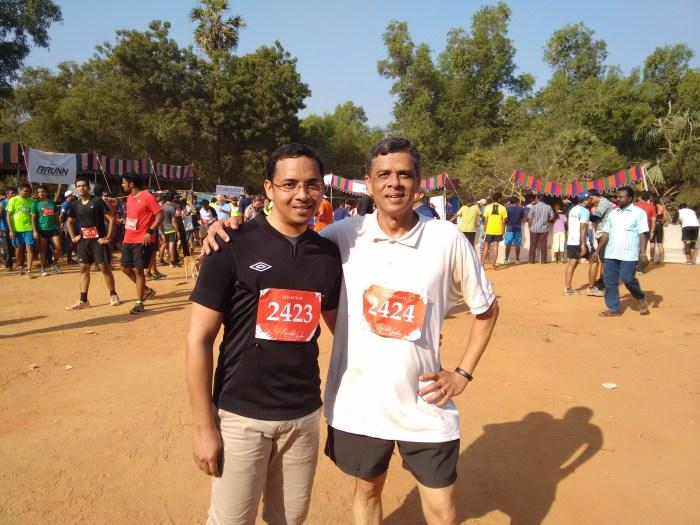 Dad n Son - Auroville Half Marathon 2015