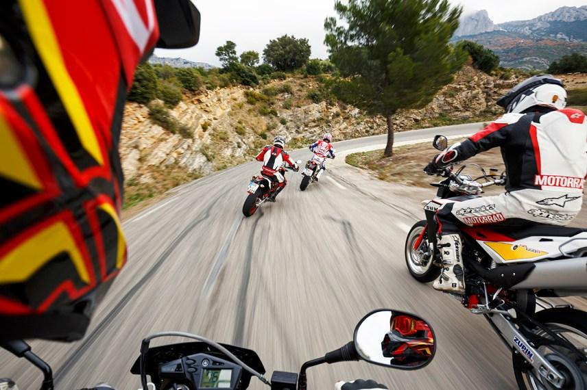 Husqvarna 701 Supermoto, KTM 690 SMC R, SWM SM 650 R, Yamaha XT 660 X, MRD Supermoto VT, MRD Heft 1/16, Frankreich