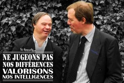 Bruxelles, Belgique. Échange avec Pascal Duquenne lors de l'enterrement de mon Oncle Émil Heinzelmann