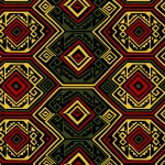 African Inspired Textile Print