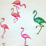 Hand Drawn Flamingo Design