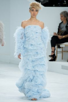 Chanel blue dress- couture