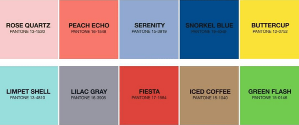 The Top 10 PANTONE Colors For Spring 2016 Blend Both Soft And Bold Unisex Tones Defying Typical Cultural Gender Norms To Usher In A New Season With
