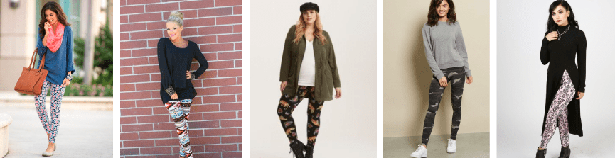 Casual style printed leggings
