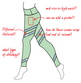 concept for legging development