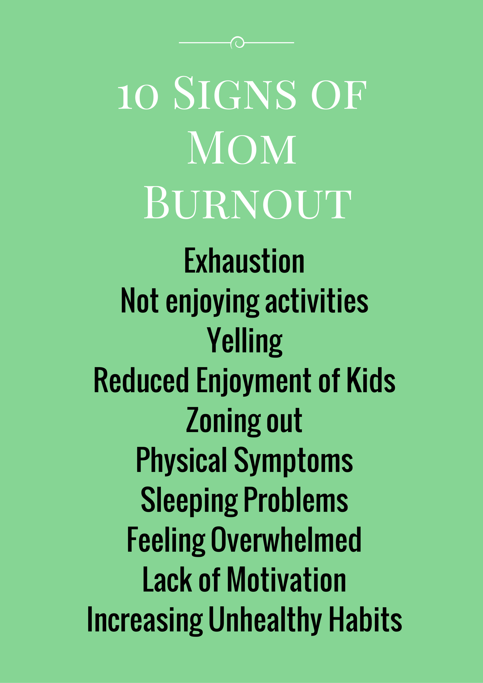 Signs Of Mom Burn Out