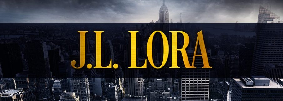 Website banner for JL Lora with New York City in the background