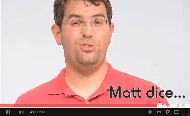 Matt Cutts Video