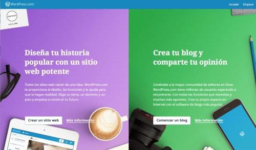 como crear blog gratis wordpress
