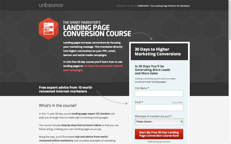 ejemplo landing page unbounce