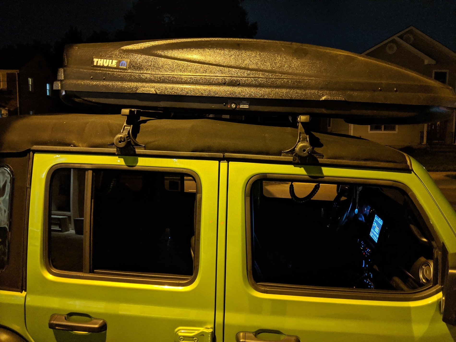 using a thule roof rack with a soft op