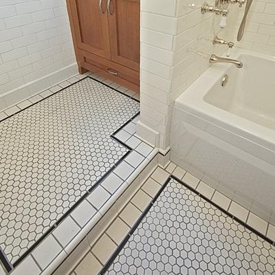 queen anne craftsman bathroom