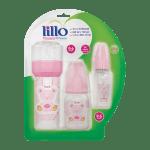 Kit Lillo Primeiros Passos Mamadeira Rosa-jmc-cha-de-fraldas