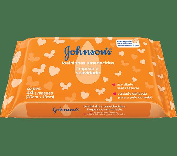 Lenço Umedecido Johnson's Baby Limpeza Suave