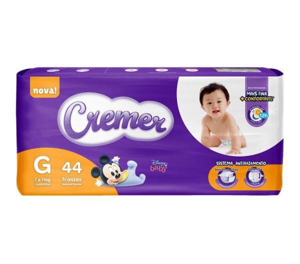 Fralda Cremer Disney Baby Mega - Tamanho G