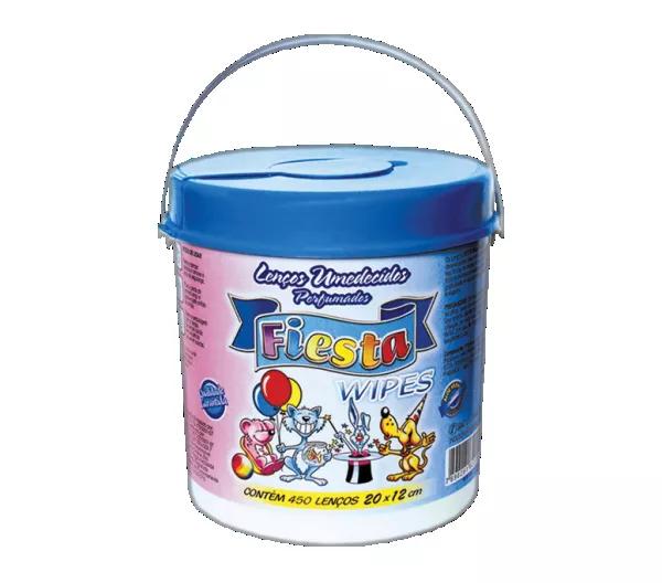Lenço Umedecido Fiesta - Pote Azul