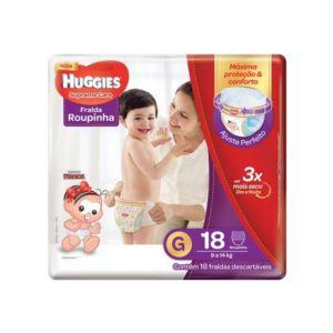 Fralda Huggies Roupinha Supreme Care Jumbo - Tamanho G - Pacote 18 unidades