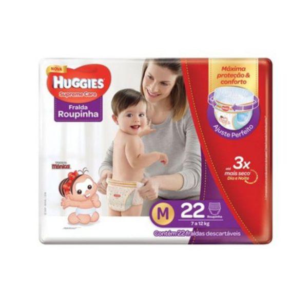 Fralda Huggies Roupinha Supreme Care Jumbo - Tamanho M - Pacote 22 unidades