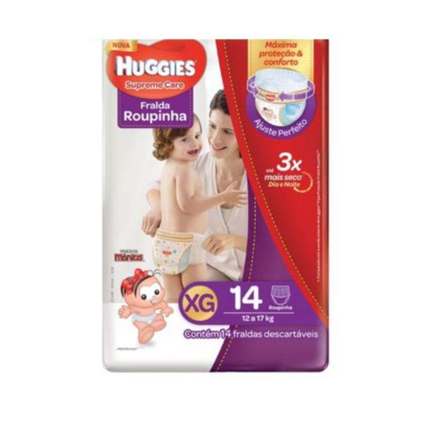 Fralda Huggies Roupinha Supreme Care Jumbo - Tamanho XG - Pacote 14 unidades