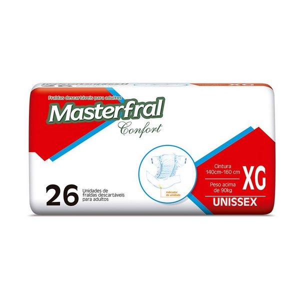 Fralda Masterfral Confort Mega - Tamanho XG-jmc-fraldas-geriatrica