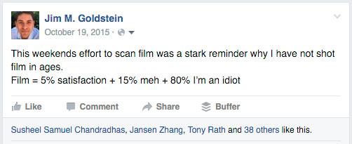 Film = 5% satisfaction + 15% meh + 80% I'm an idiot