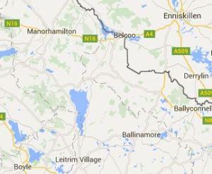 Boyle to Enniskillen Map