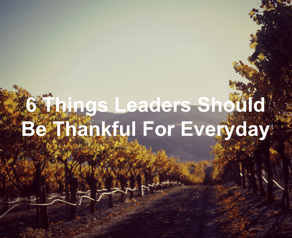 Be thankful as a leader