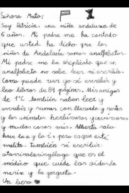 Carta a Mato