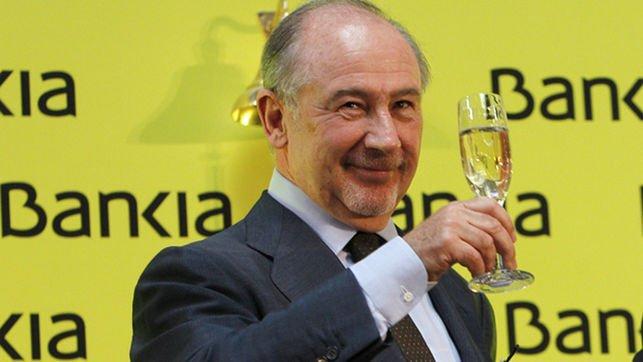 Rodrigo Rato celebra la salida a Bolsa de Bankia Foto: Ballesteros/Efe.