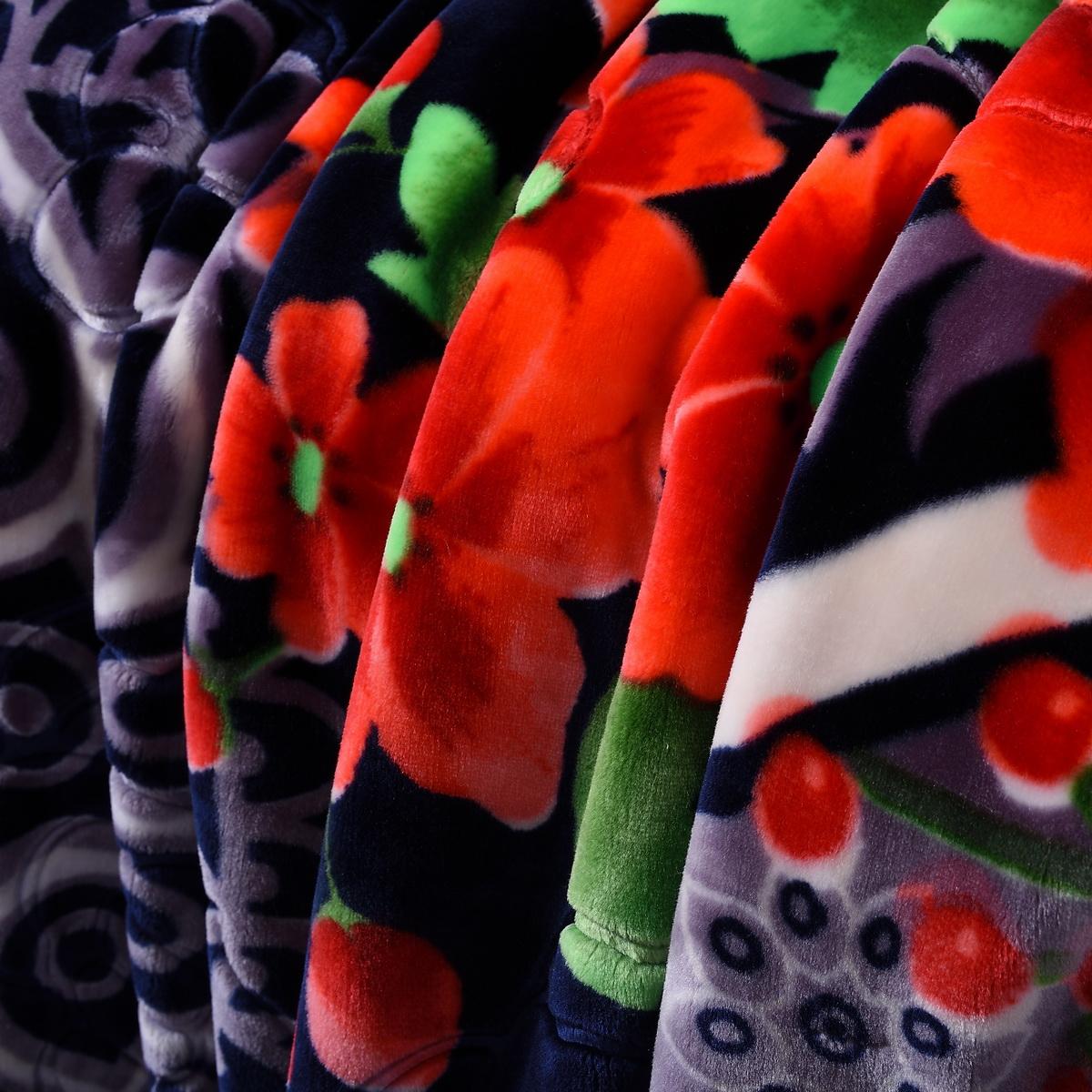 Heavy Thick Plush Velvet Korean Style Mink Blanket Two Ply Reversible Raschel Blanket With One