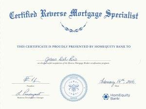 Certified reverse mortgage specialist - Jesus Del Rio