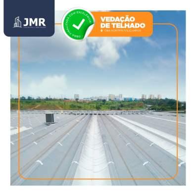 Atualização 5 - Vedação de telhado no Supermercado OBA Hortifrut de São Jose dos Campos SP