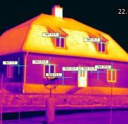 Husets framsida värmebild