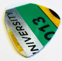 Guitar Pick Made From a Parking Pass