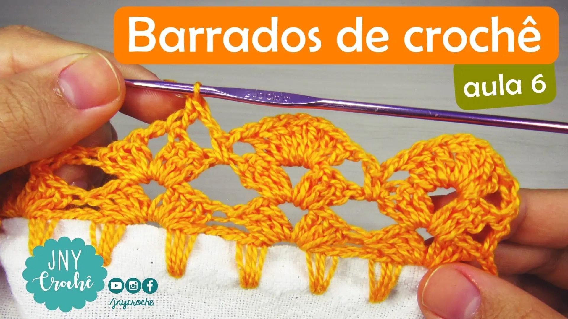 Barrado De Croche Passo A Passo Para Iniciantes Aula 6d2