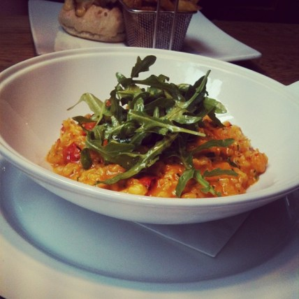 Lunch Special: Saffron, crayfish and chorizo risotto