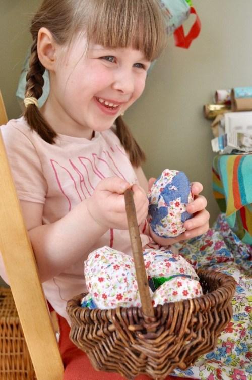 Fabric Mâché Easter Eggs