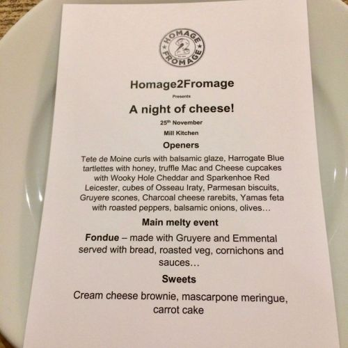 Homage2Fromage Pop Up Supper Club