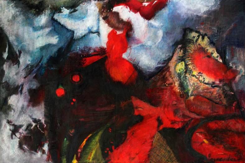 """La Nina 48"""" x 71.5"""" Mixed Media on Canvas"""