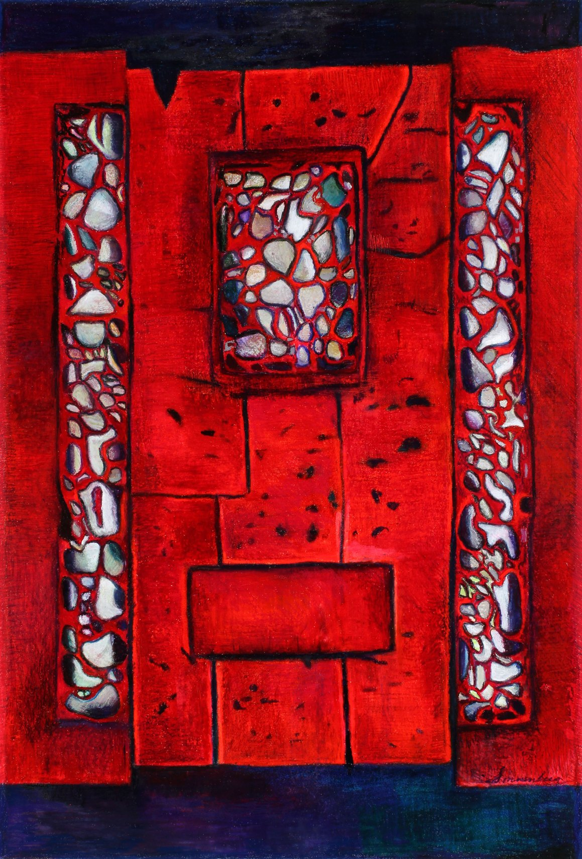 """Passion Of Freedom 51"""" x 36"""" Mixed Media on Paper"""